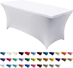 ABCCANOPY Spandex Tablecloths for 5 ft Home Rectangular Table Fitted Stretch Table Cover Polyester Tablecover Lash Bed Cov...