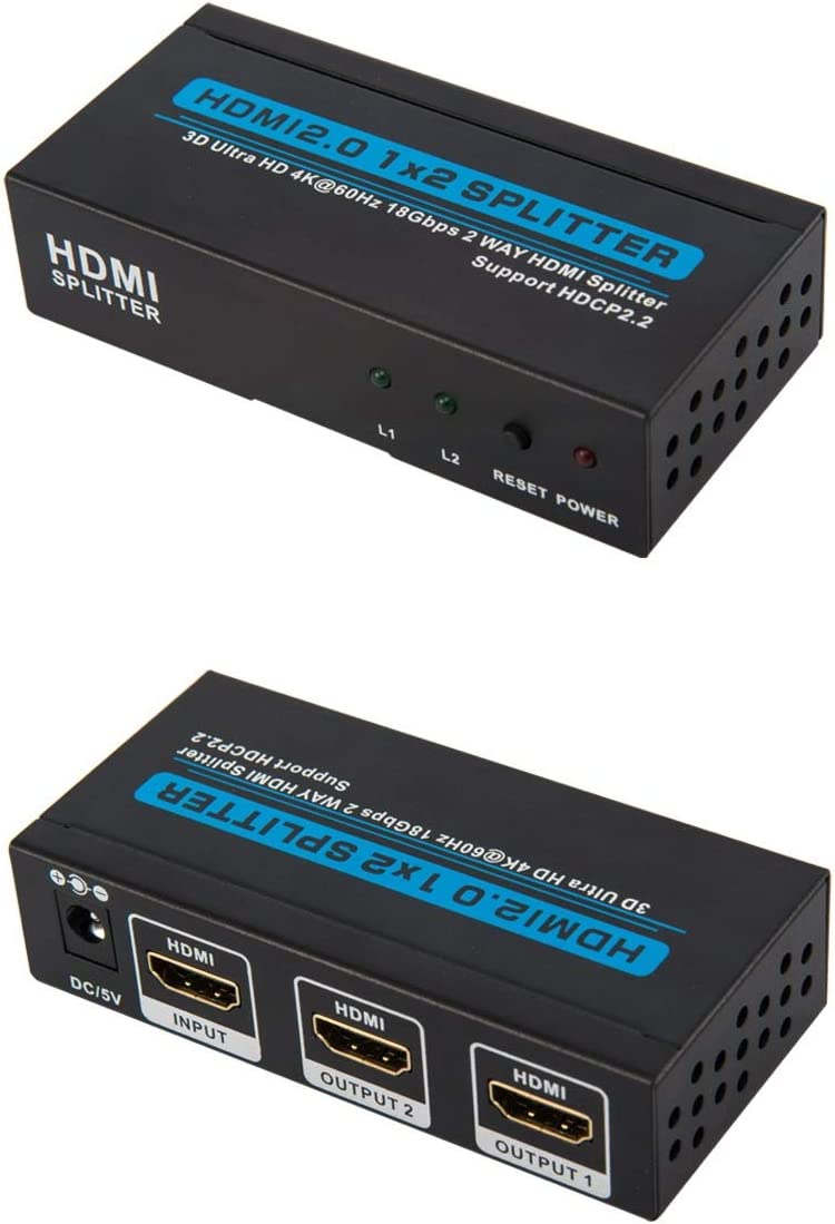 CNE86960 HDMI Splitter Amplifier 1 In to 2 Out Dual Display