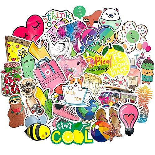 AXHZL Girls Series Small Fresh Graffiti Stickers for Skateboard Computer Refrigerator Washing Machine Suitcase Childrens Toys 50Pcs