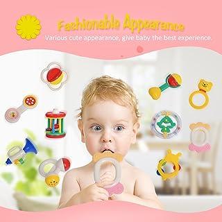 مجموعة أدوات خشخشة يدوية للأطفال من أميتويز جود واي 3310، لعبة جرس سرير للأطفال، هدية لحديثي الولادة
