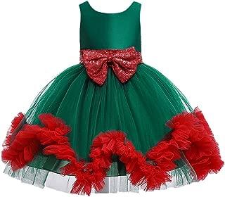 YALANK Baby Girls Sleeveless Tulle Dress with Bow Sash Tutu Skirt Party Princess Dress Layered Hem Dance Gown