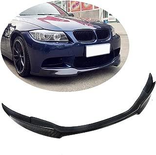 MCARCAR KIT Front Bumper Lip fits BMW 3 Series M3 E90 E92 E93 2Door 4Door 2008-2013   Add-on Pure Carbon Fiber Chin Spoiler Splitter Protector