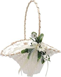2x Vintage Hochzeit Blumenkorb Blumenkinder Basket Streukörbchen  Dekor