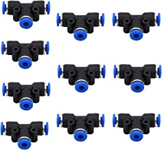 Quick Connect Fittings 6mm OD DERNORD 10 Pack Plastic Push to Connect Fittings Tube Straight Connect 6 Mm to 6 Mm Push Fit Fittings Tube Fittings Push Lock