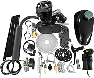 50cc Bicycle Engine Kit 2-Stroke Gas Motorized Motor Bike Kit Black