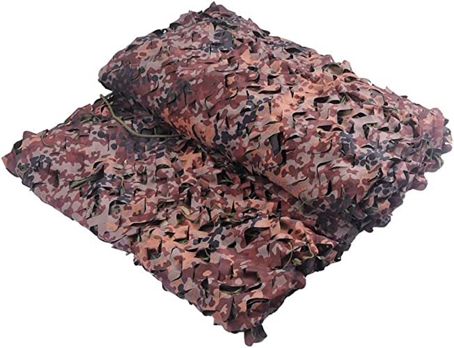 LPD-Filet de camouflage Filet pour Camouflage Toile D'ombrage Tissu Oxford Plein Air Filets De Prougeection Solaire à Double Pont Décoration D'intérieur, Plusieurs Tailles (Taille   4x6M)