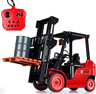 AIOJY 11-Way Three Songs Remote Control Forklift/Crane Remote Control Light Music Model Engineering Truck Vehicle Toy, Children's Best Birthday