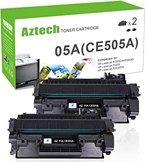 Aztech Compatible Toner Cartridge Replacement for HP 05A CE505A (Black, 2-Packs)