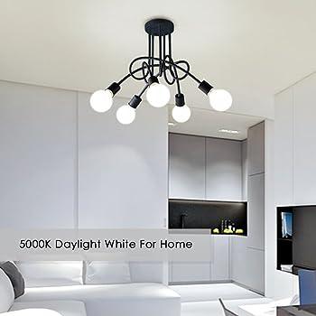 G25 LED Vanity Light Bulb 5W, Kakanuo 60W Globe Bulb Equivalent, Round Bathroom Makeup Light Bulb, Daylight White 500...