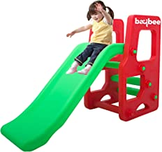Baybee Garden Slide Playgro Plastic Super Senior Slide for Kids Garden Slider for Kids Suitable for Boy's & Girl's 1 Year Old and Up - Perfect Slide for Home / Indoor or Outdoor-Multicolor