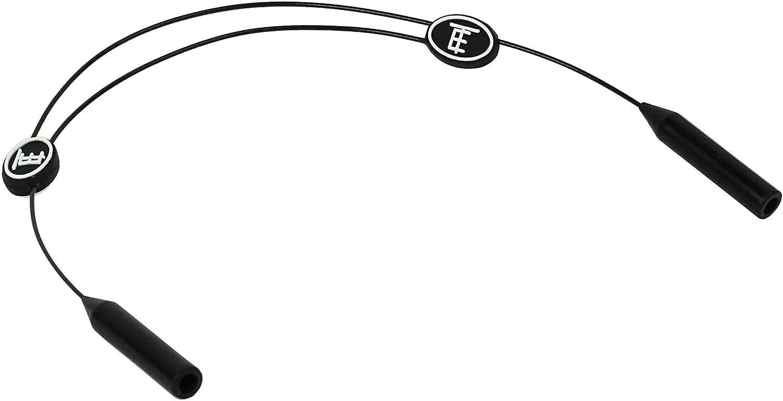 TOROE Performance Eyewear Adjustable Sports No Tail Sunglass Neck Cord Safety Strap - Black