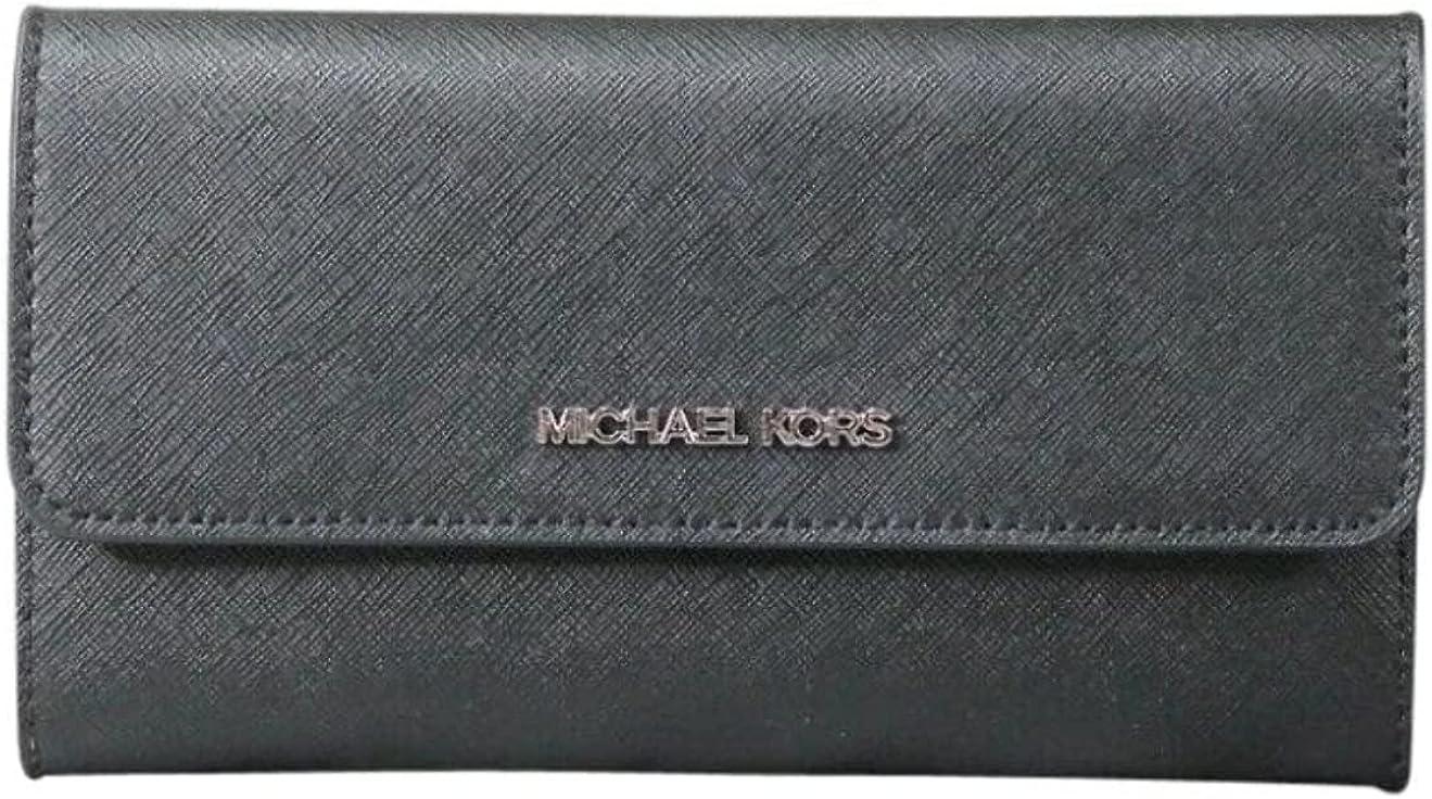 Michael Kors Special sale Max 59% OFF item Jet Set Travel Trifold Wallet Black Leather Large