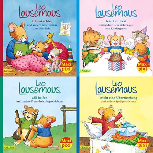 Maxi-Pixi-4er-Set 80: Meine liebsten Geschichten von Leo Lausemaus (4x1 Exemplar) (80)