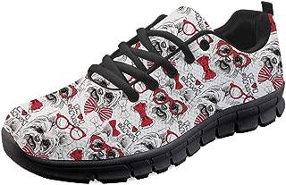 Air Mesh Running Walking Sneakers for Women Men Lightweight Lace Up Flats