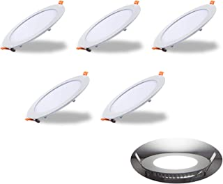 comprar comparacion Yafido Pack 5x Downlight LED Panel Extraplano Redondo, 6W 420 Lumenes Blanco Frio 6000K,No-regulable,Driver incluido,Diame...