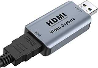 Video Capture Card, Vilcome Video Audio HDMI to USB Record Card, Full HD 1080p USB 2.0 Record via DSLR Camcorder Action Ca...