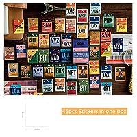 46 個世界旅行ステッカー 40 ミリメートルミニ手荷物タグラベル装飾ステッカー粘着シールポスト日記scarpbooks子供ギフトh6422