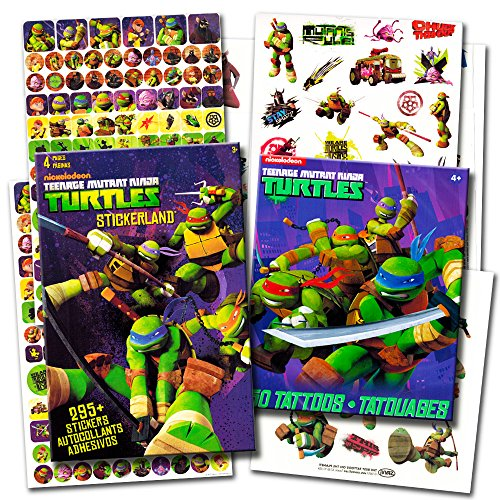TMNT Teenage Mutant Ninja Turtles Stickers & Tattoos Party Favor Pack (270 Stickers & 50 Temporary Tattoos)