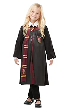 Rubie's Official Harry Potter Gryffindor Printed Robe Costume, Childs Size Medium Age 5-6 Years