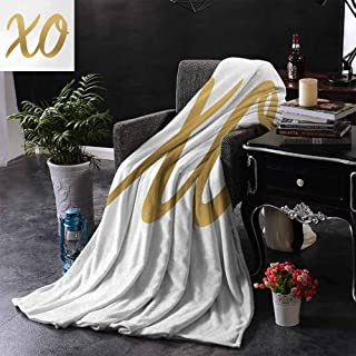 GGACEN Sofa Blanket Hugs and Kisses Valentine Days Inspired Background Vintage Style Celebration Image Super Soft Faux Fur Plush Decorative Blanket 60