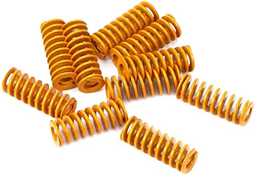 LEOWAY 8mm OD 20mm Long Light Load Compression Mould Die Spring Yellow for Heated Bed Ender 3 CR-10 CR-10Mini CR-10S ...