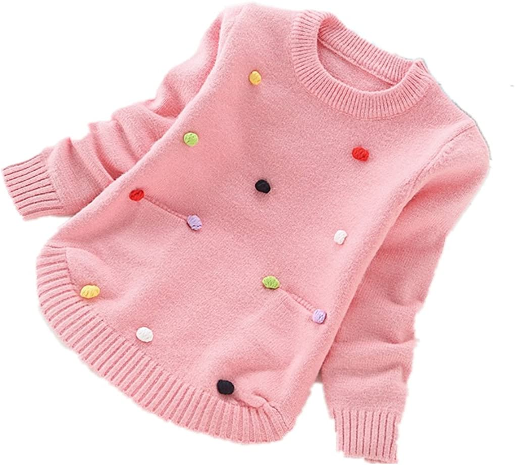 Nine Minow Girls Sweater Children Round Neck Long Sleeve Sweater