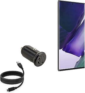 Carregador veicular BoxWave para Samsung Galaxy Note 20 Ultra [Carregador mínimo de carro com cabo DirectSync] Carregador ...