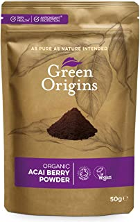 Green Origins Organic Acai Berry Powder (Freeze Dried, Raw) 50g