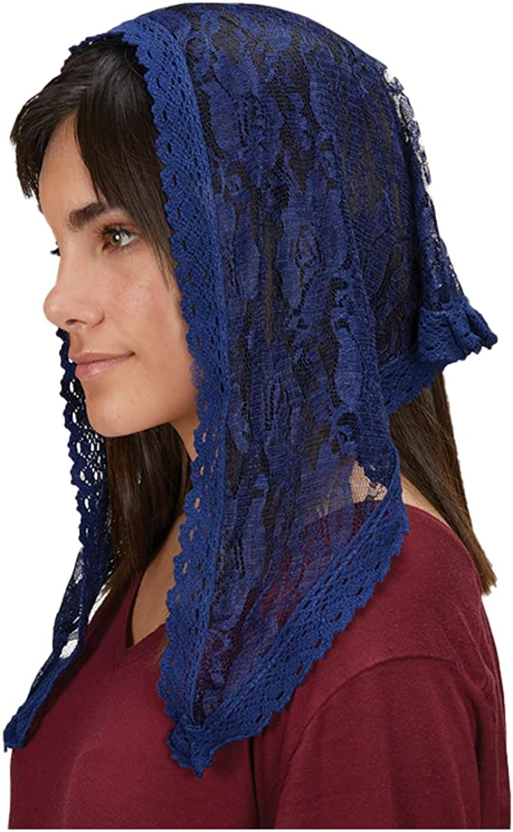 Modern Blue Chapel Length Veil, 38 Inch, Pack of 2
