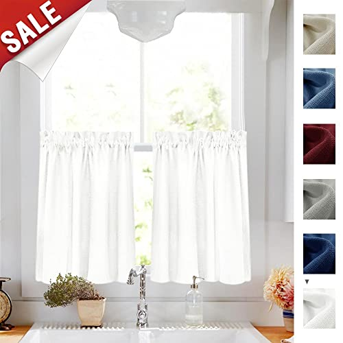 Cafe Curtains White: Amazon.com