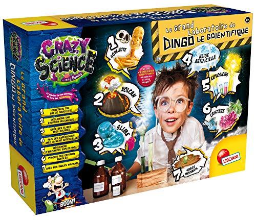 Lisciani - Crazy Science – Le Grand Laboratoire De Dingo Le Scientifique - Jeu éducatif scientifique amusant à partir de 8 ans - FR68654