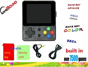 Gamebound LDK Game 4:3 Retro Handheld Game Console - Clear Black + Free gift carry bag
