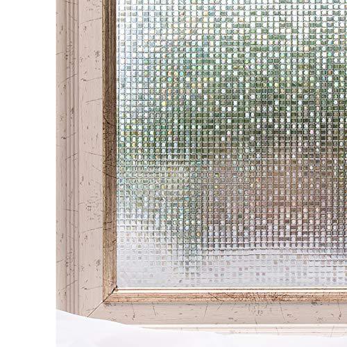 CottonColors(コットンカラーズ) 3D 窓用フィルム 目隠しシート 断熱 UVカット 何度も貼直せる 窓ガラスフィルム 90x200cm [石道004]