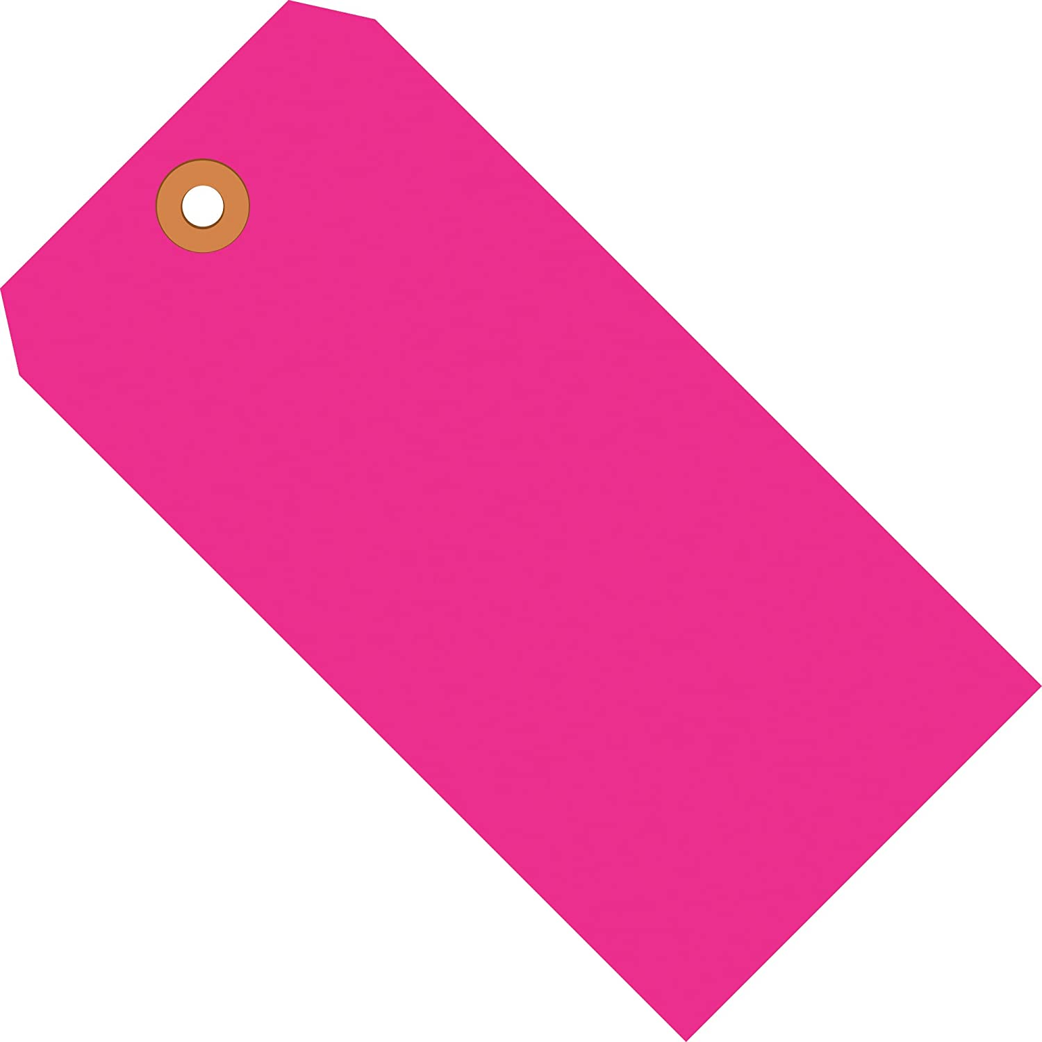 Fluorescent Pink Shipping Tags, 13 Pt, 5 1/4