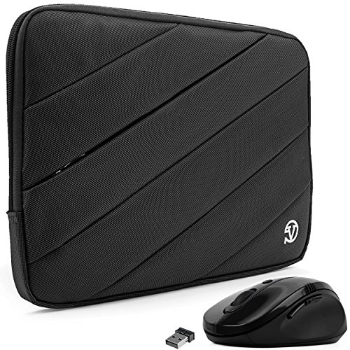 """Price comparison product image VanGoddy Onyx Black Shock Absorbent Nylon Sleeve w / Wireless Mouse Suitable for Xiaomi Mi Book Air / Notebook Air 12.5"""""""