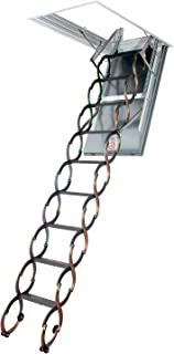 FAKRO LSF 66859 Fire-Resistant Insulated Steel Scissor Attic Ladder for 25-Inch x 47-Inch Rough Openings