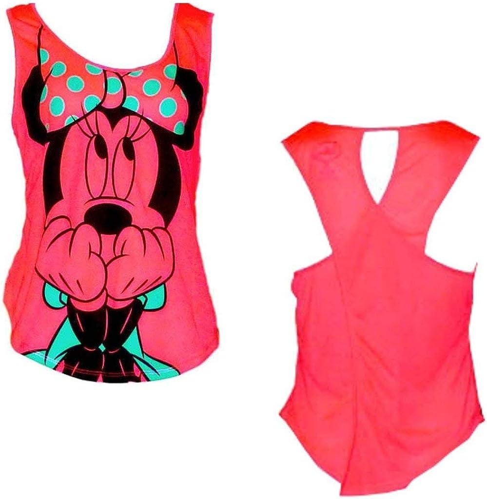 Disney Teen/Junior Fashion Tank Top Scared Minnie Mouse