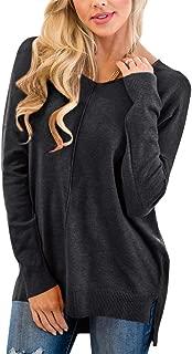 Women's V Neck Winter Loose Fit Long Sleeve Knit Sweater
