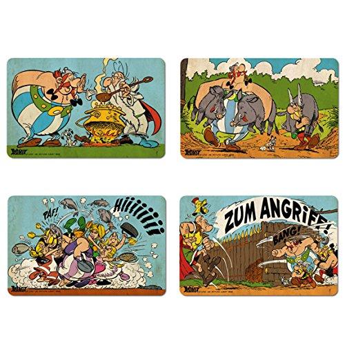 Logoshirt Asterix der Gallier - Asterix, Obelix & Miraculix Frühstücksbrettchen 4er Set - farbig - Lizenziertes Originaldesign