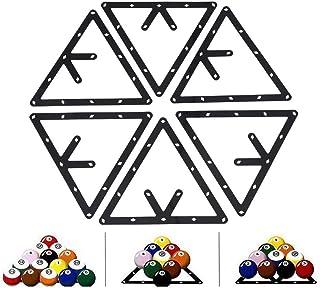 Billard Zubehör, 6Pcs Billard Rack Billardträger Schwarz Dreieck Kugelhalter Bälle Ballhalter Positionierung Billardtisch ...