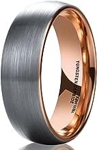 rose gold tungsten carbide ring
