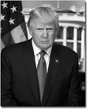 President Donald Trump Official Presidential Portrait BW 8x10 Silver Halide Photo Print
