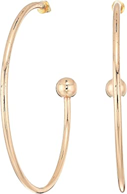 Steve Madden Solid Open Hoop Post Earrings