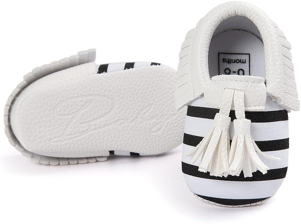 Neband Infant Baby Girls and Boys Premium Soft Sole Moccasins Tassels Prewalker Toddler Shoes