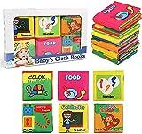 NEWSTYLE Libros de Tela para Bebé,6 Piezas Libros de Tela,Juguetes Bebe Educativos Regalos para Bebé Recién Nacido Niños