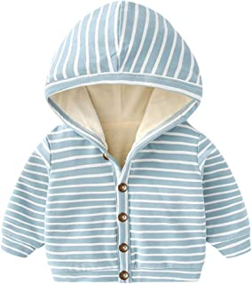 FORESTIME Winter Toddler Newborn Baby Long Sleeved Hooded 0-24 Months Solid Zipper Romper Jumpsuit Clothes