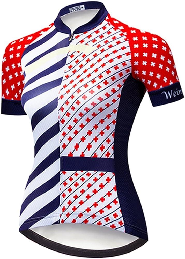 quality assurance Weimostar Women's Cycling Jersey Short Shirts Max 75% OFF Bike Ladies Sleeve