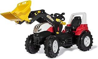 Rolly Toys 710041 rollyFarmtrac Trettraktor Steyr 6300 Terrus CVT inkl. rollyTrac Lader, 3-8 Jahre, Verstellbarer Sitz