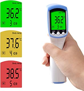 CHENG Pistola de term/ómetro infrarrojo para beb/és y Adultos con term/ómetro para beb/és de 32 grabaciones,Blue