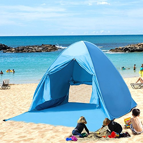 Kany Portable Pop Up Beach Tent, Outdoor Automatic Instant Tent Sun Shelter Anti-UV Cabana Shade Waterproof Family Tent for Camping Fishing Hiking or Picnic